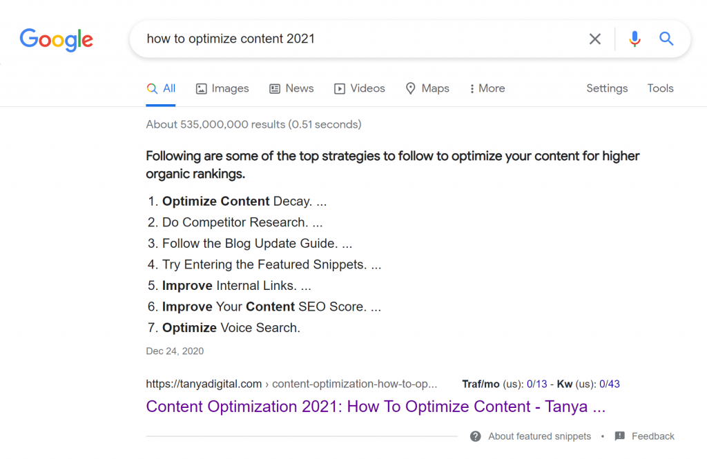 google-higher-ranking-snippets